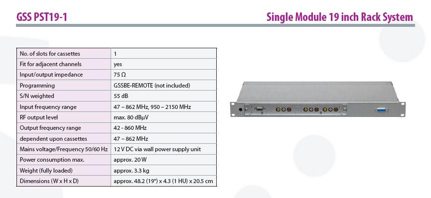 Single Module 19 inch Rack System