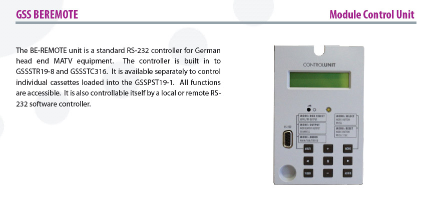 Module Control Unit