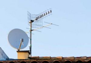 TV Antenna with Satellite Dish